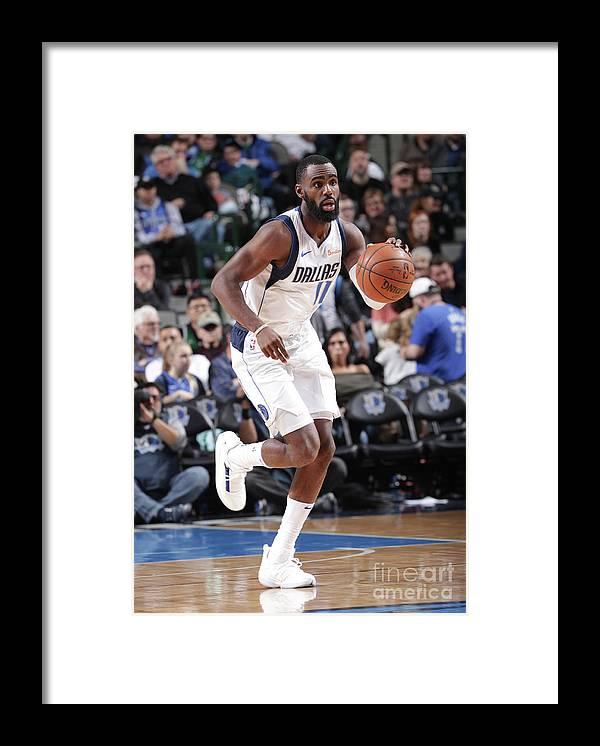 Tim Hardaway Jr. Framed Print featuring the photograph Portland Trailblazers V Dallas Mavericks by Glenn James