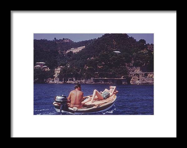 1950-1959 Framed Print featuring the photograph Portofino Boat Ride by Thurston Hopkins
