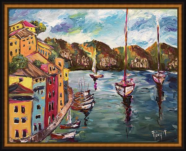 Portofino Harbor by Roxy Rich
