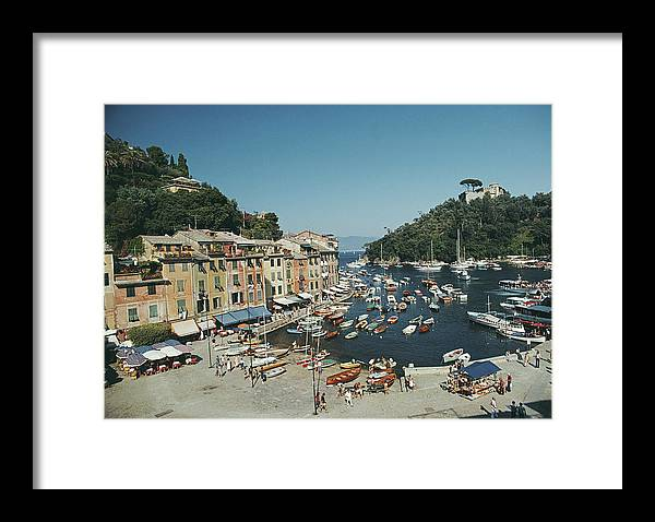 Scenics Framed Print featuring the photograph Portofino Harbour by Slim Aarons