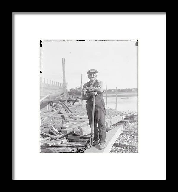 People Framed Print featuring the photograph Portrait Of A Shipyard Workman by Bettmann