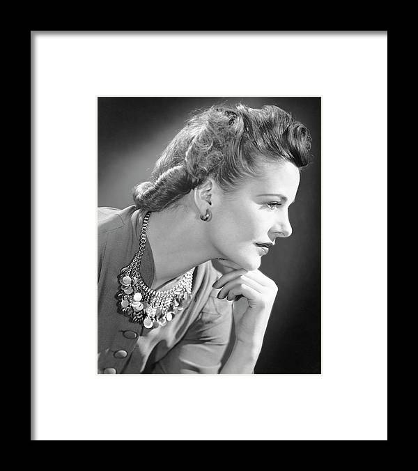 People Framed Print featuring the photograph Portrait Of A Thinking Woman by George Marks
