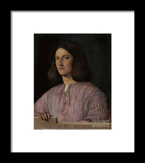 Oil Painting Framed Print featuring the drawing Portrait Of A Young Man Giustiniani by Heritage Images