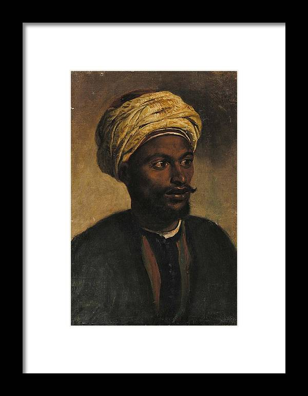 Portrait Of An Arab Framed Print featuring the painting Portrait Of An Arab by MotionAge Designs