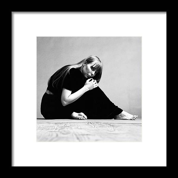 Singer Framed Print featuring the photograph Portrait Of Joni Mitchell by Jack Robinson
