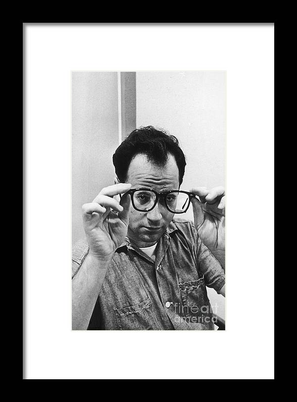 Artist Framed Print featuring the photograph Portrait Of Robert Barry by Fred W. Mcdarrah