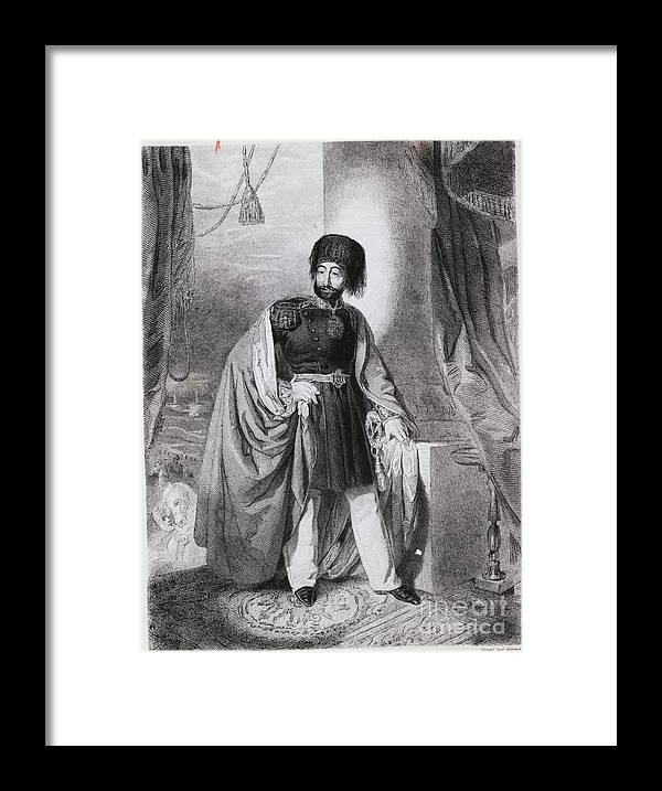 Art Framed Print featuring the photograph Portrait Of Turkish Emperor Mahmoud by Bettmann