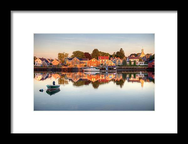 Water's Edge Framed Print featuring the photograph Portsmouth New Hampshire by Denistangneyjr