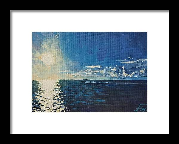 Waterscape Framed Print featuring the painting Possibility by Allison Fox