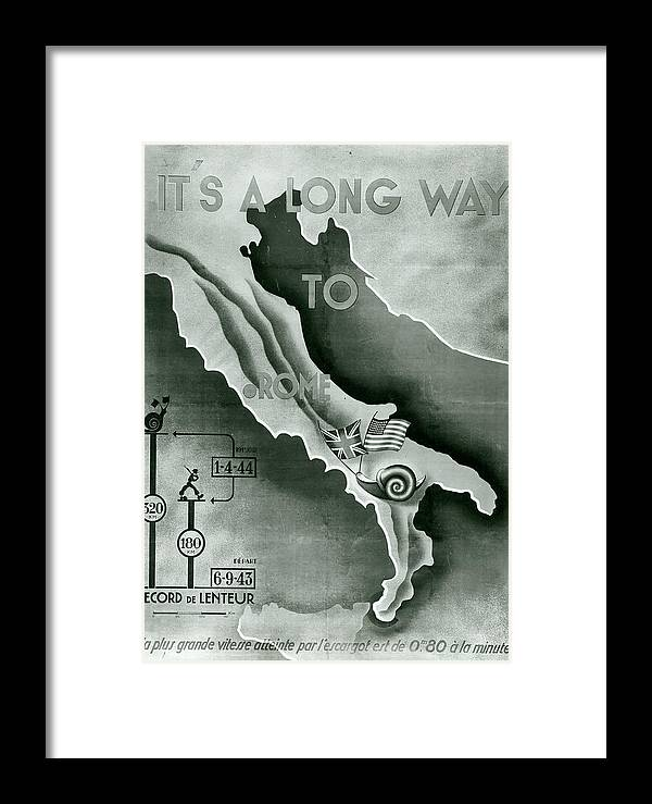War Framed Print featuring the photograph Poster Depicting Allied Advance In by Universalimagesgroup