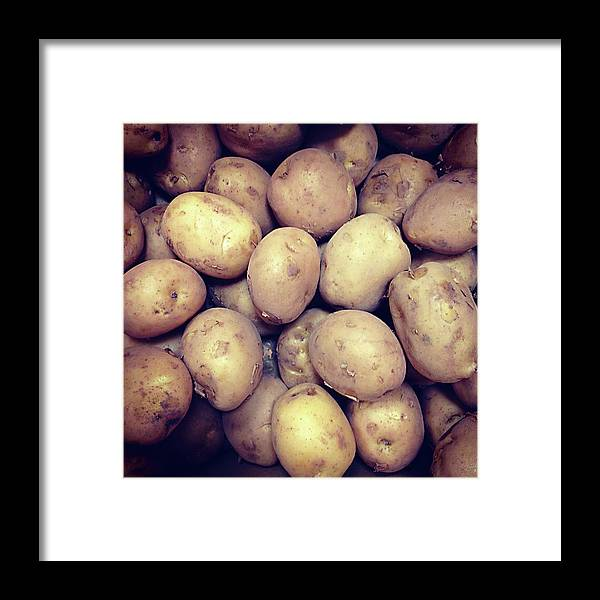 Heap Framed Print featuring the photograph Potatoes by Digipub