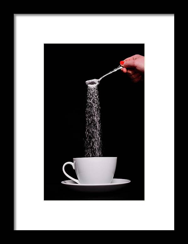 Sugar Framed Print featuring the photograph Pouring Sugar by Stock colors