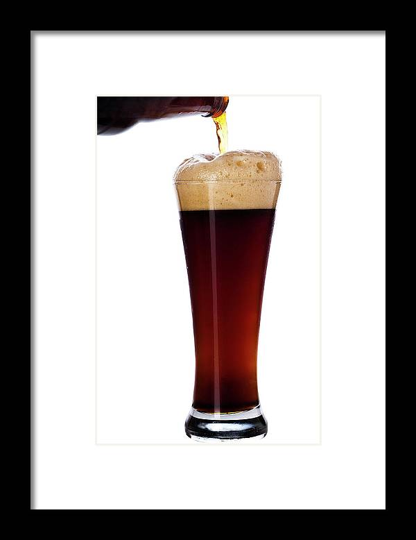 Stout Framed Print featuring the photograph Pouring The Lager by Eli asenova