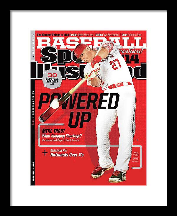 Magazine Cover Framed Print featuring the photograph Powered Up 2014 Mlb Baseball Preview Issue Sports Illustrated Cover by Sports Illustrated