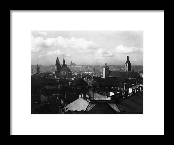 Architectural Feature Framed Print featuring the photograph Prague by Fox Photos