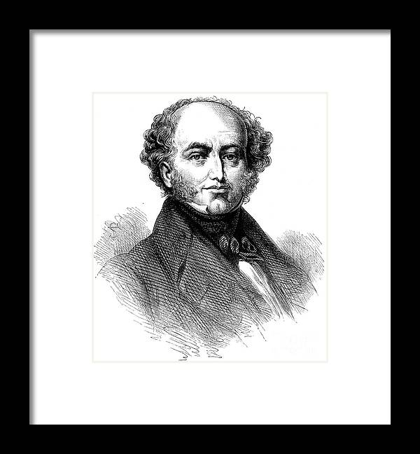 Engraving Framed Print featuring the drawing President Van Buren 1782-1862, American by Print Collector