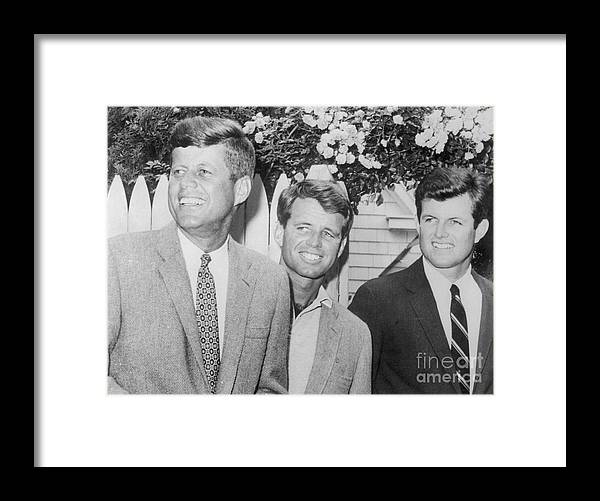 People Framed Print featuring the photograph Presidential Candidate John F. Kennedy by Bettmann