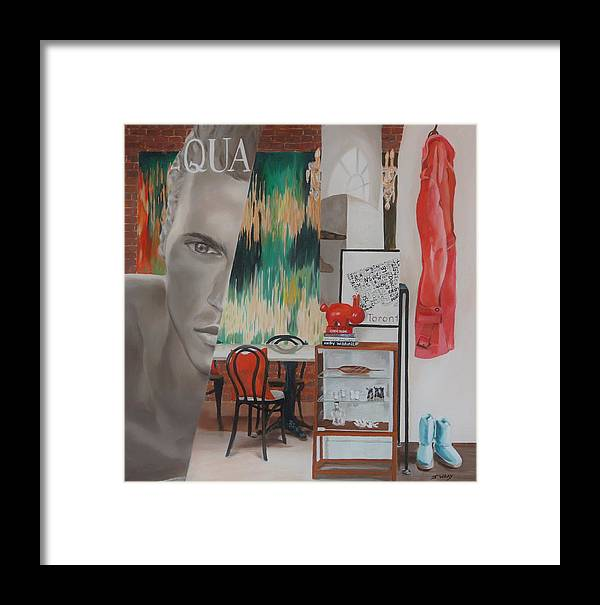 Male Model Framed Print featuring the painting Pretty Boy by Johanna Wray