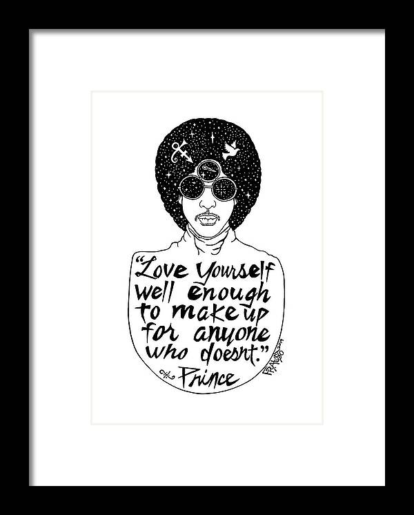 Pen And Ink Illustration Framed Print featuring the drawing Prince Drawing by Rick Frausto