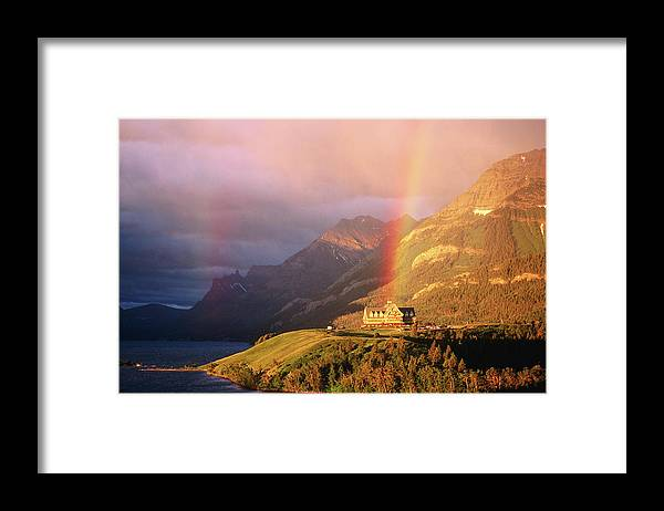 Scenics Framed Print featuring the photograph Prince Of Wales Hotel, At The End Of A by John Elk