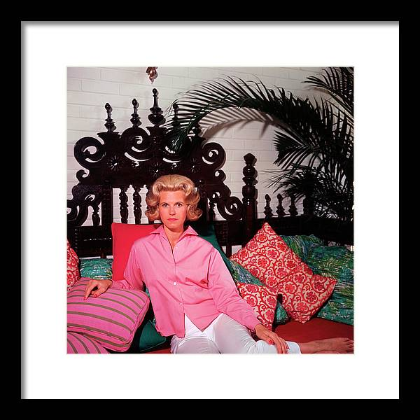 People Framed Print featuring the photograph Princess Darenberg by Slim Aarons