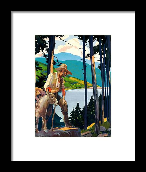 Mountain Man Framed Print featuring the digital art Prospector by Laura Botsford