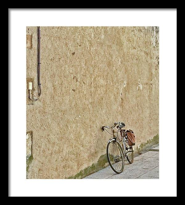 Europe Framed Print featuring the digital art Provencial Bike by Scott Waters