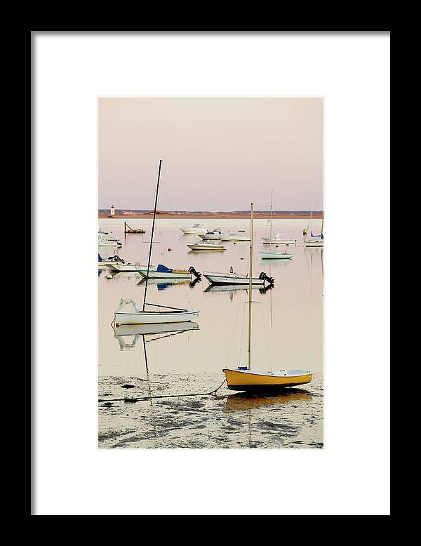 Sailboat Framed Print featuring the photograph Provincetown Harbor by Walter Bibikow