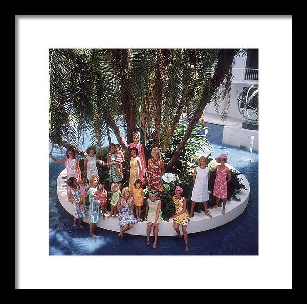 Child Framed Print featuring the photograph Pulitzer Fashions by Slim Aarons