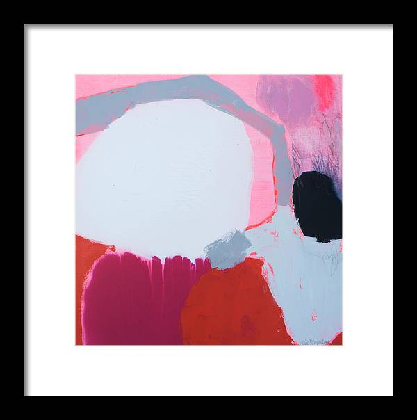 Abstract Framed Print featuring the painting Pussycats In Pussy Hats by Claire Desjardins