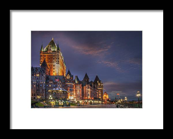 Hotel Framed Print featuring the photograph Quebec City, Chateau Frontenac Hotel by Buena Vista Images