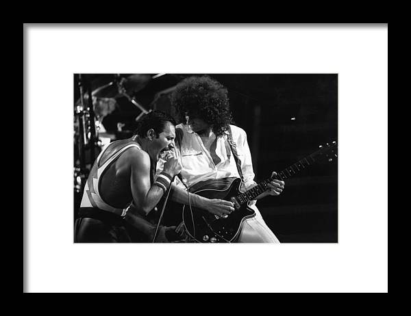 Rock Music Framed Print featuring the photograph Queen Concert by Rogers
