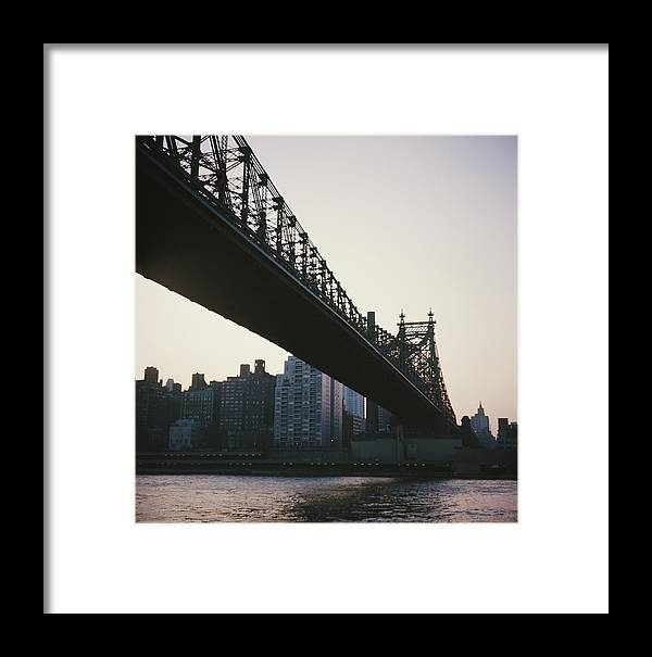 Architecture Framed Print featuring the photograph Queensboro Bridge by Authenticated News
