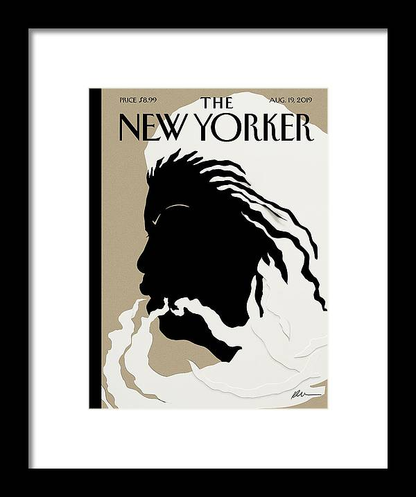 Toni Morrison Framed Print featuring the mixed media Quiet As Its Kept by Kara Walker