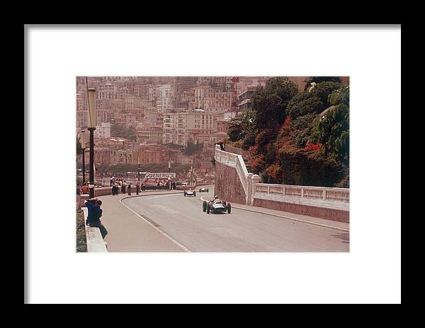 People Framed Print featuring the photograph Racing Cars On The Road Track At The by Heritage Images