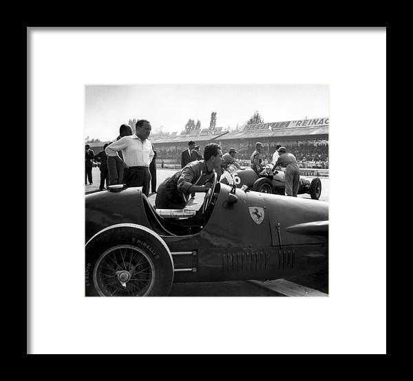 Horse Framed Print featuring the photograph Racing Ferrari by Ronald Startup