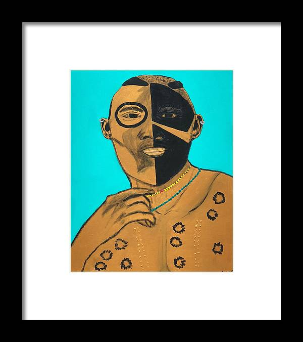 Warrior Framed Print featuring the painting Radiant Warrior by Sonye Locksmith