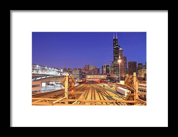 Railroad Track Framed Print featuring the photograph Rail Tracks by Joseph Balynas
