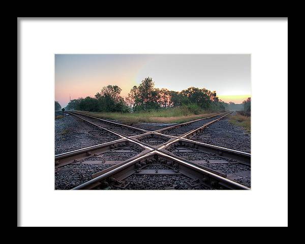 Grass Framed Print featuring the photograph Railroad Diamond by Jerad Heffner