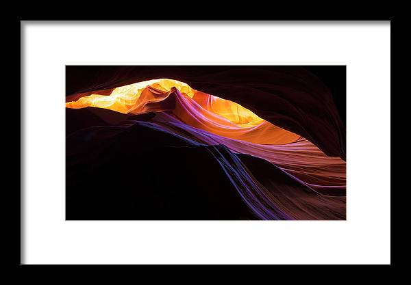 Rainbow Canyon Framed Print featuring the photograph Rainbow Canyon by Chad Dutson