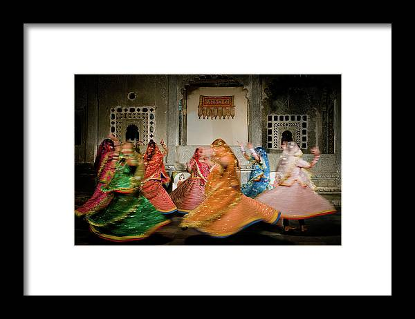 People Framed Print featuring the photograph Rajasthani Dances by Ania Blazejewska