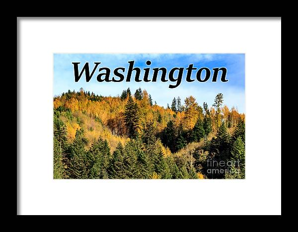 Randle Framed Print featuring the photograph Randle Washington In Fall 02 by G Matthew Laughton