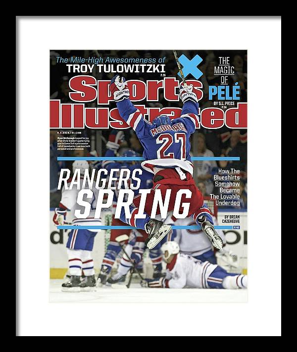 Magazine Cover Framed Print featuring the photograph Rangers Spring How The Blueshirts Somehow Became The Sports Illustrated Cover by Sports Illustrated