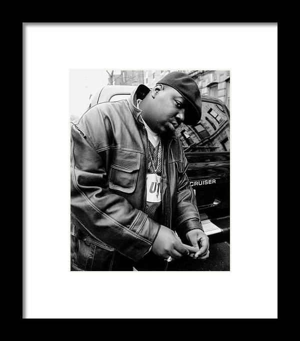 Three Quarter Length Framed Print featuring the photograph Rapper Notorious B.i.g., Aka Biggie by New York Daily News Archive