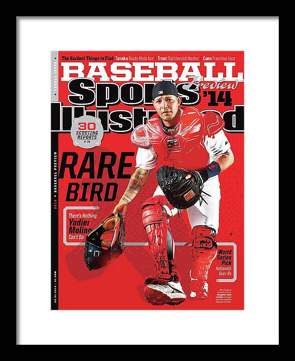 St. Louis Cardinals Framed Print featuring the photograph Rare Bird 2014 Mlb Baseball Preview Issue Sports Illustrated Cover by Sports Illustrated