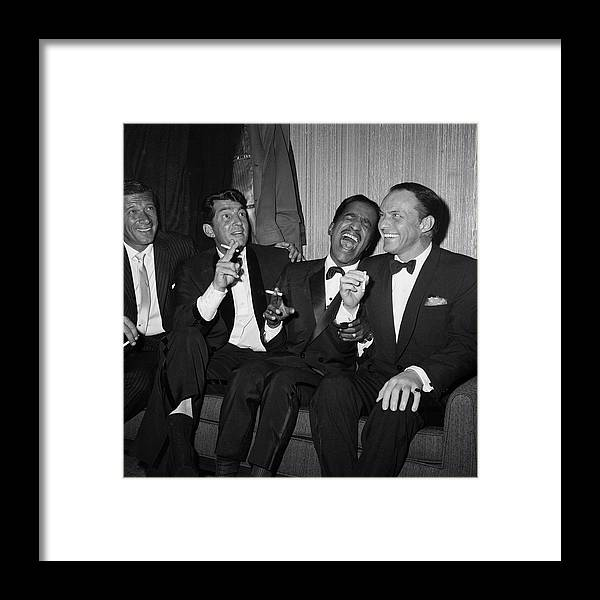 Charity Benefit Framed Print featuring the photograph Rat Pack At Carnegie Hall by Bettmann