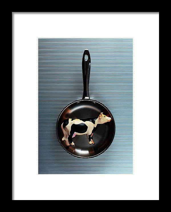 Concepts & Topics Framed Print featuring the photograph Raw Steak by Thepalmer