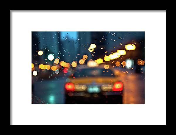 Car Interior Framed Print featuring the photograph Raw, Wet & Cold by Romeo Banias