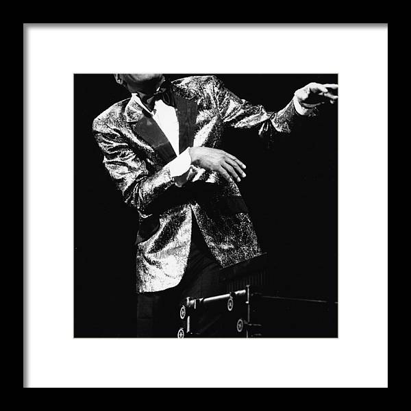 Singer Framed Print featuring the photograph Ray Charles Dances On Stage by Hulton Archive