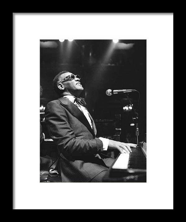 San Francisco Framed Print featuring the photograph Ray Charles Performing by Tom Copi